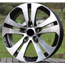 R Line KIZE1063 black polished 18x7,5 5x114,3