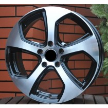 R Line VWZE1097 black polished 16x7 5x100