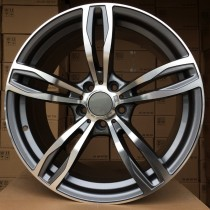 R Line BZE492 (B001) grey polished 19x8,5 5x120 ET20 72,6