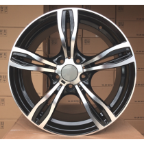 R Line BZE492 black polished 17x8 5x120