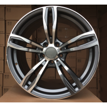 R Line BZE492 grey polished 17x8 5x120