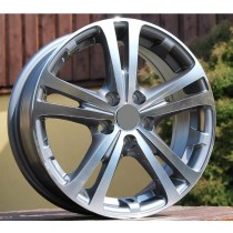 R Line SKZE616 grey polished 16x6,5 5x112 ET45 57,1