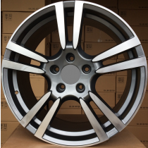 R Line PZE946 anthracite polished 20x11 5x130 ET67 71,6