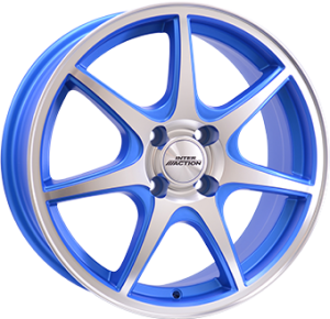 Inter Action ice 16x6,5 matt blue polished front