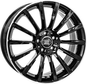 Mile Miglia black polished 19x8