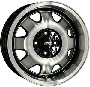 ATS Cup 18x8 black polished