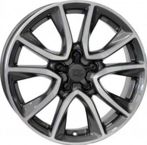 WSP Italy Gerda CR-Z 17x6,5 5x114,3 ET45 64,1 anthracite polished