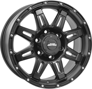 Inter Action Grabber 17x8 black matt