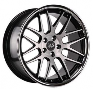 SAS Concave AV8 20x8,5 Black Polished-Inox Lip