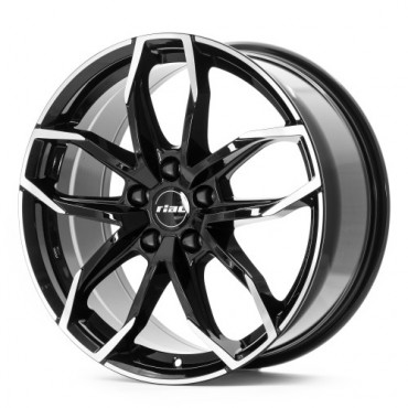 Rial Lucca 16x6,5 black polished